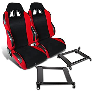 Amazoncom For Honda Civic Acura Integra Red Cloth PVC Leather - Acura integra seats