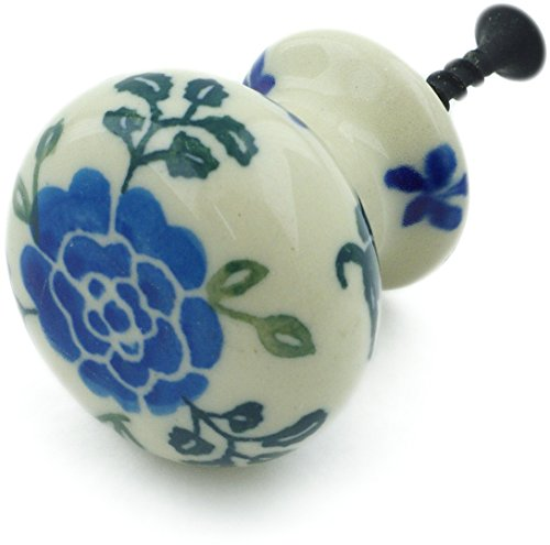 Polish Pottery 1¼-inch Drawer Pull Knob Made by Ceramika Artystyczna + Certificate of Authenticity