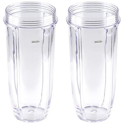 Nutri Ninja 32 oz Tritan Cups. Compatible with BL480, BL490, BL640, BL680 Auto IQ Series Blenders (Pack of 2)