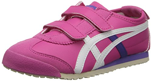 Tiger Stripes Purple Design (Onitsuka Tiger Mexico 66 Baja PS Running Shoe (Toddler/Little Kid),Magenta/White,1.5 M US Little Kid)
