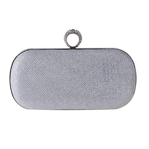 Fête couleur Silver De Pour À Soirée Sac Gold Main Argent Femme Femmes Argent Bx61Uz