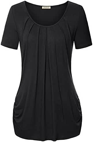Jazzco O-Neck Short Sleeve T Shirt For Leggings For Women