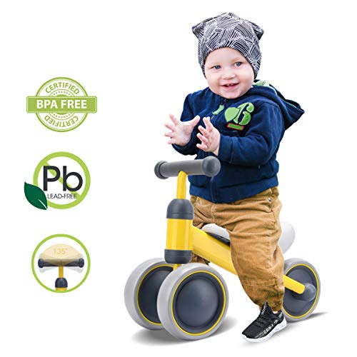 Scool Baby Balance Bike, Balance Bike for Toddlers Baby Bicycles Perfect First Bike for 1 Years to 2 Years Old