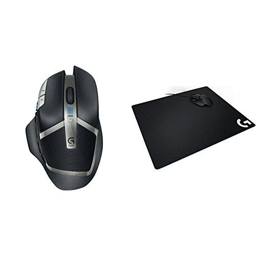 G602 Lag-Free Wireless Gaming Mouse & Logitech G640 Large Cloth Gaming Mousepad bundle
