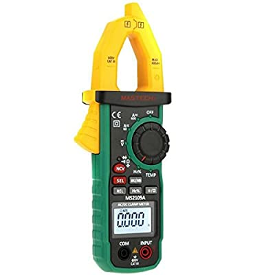 MS2109A Auto Ranging Digital AC/DC Clamp Meter Multimeter Frequency Capacitance Temperature NCV Tester