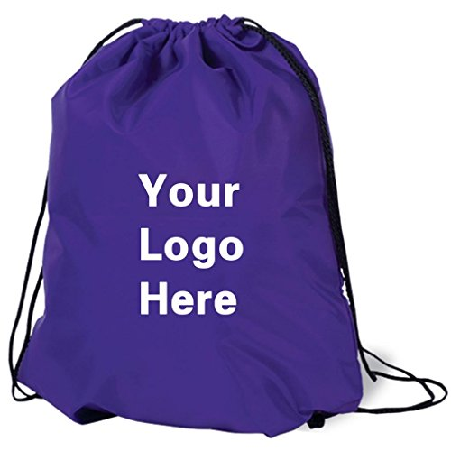 Promotional Drawstring Bag String-A-Sling Backpack- 15''w x 18''h flat bag- 200 Quantity - $1.80 Each -Promotional Products Bulk Custom Branded with YOUR LOGO for Free C2BPromo #C2BB0054-Purple by C2BPROMO.COM YOU PRICE IT. WE DELIVER IT.