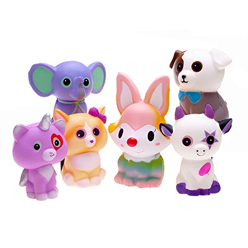 FORTON Kawaii Slow Rising Squishy Toys Animals Unicorn Cat Dog Cow Fox Elephant Squishies Pack of 6 by FORTON (Image #2)