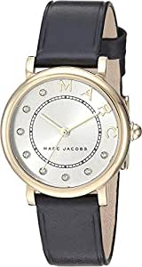 Marc Jacobs Women's Quartz Watch analog Display and Leather Strap, MJ1641
