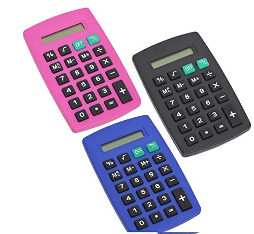 100pcs Standard Calculator Assorted Colors by JOT (Image #5)