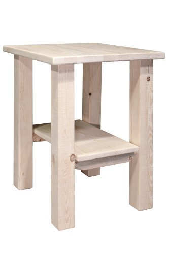 Montana Woodworks MWHCNS Homestead Collection Nightstand/End Table with Shelf, Ready to Finish (Pine Table Nightstand Finish)