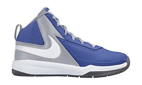 Nike Team Hustle D 7 (GS), Zapatillas de Baloncesto Para Niños Azul / Blanco / Gris (Game Royal / White-Wlf Grey-Blck)