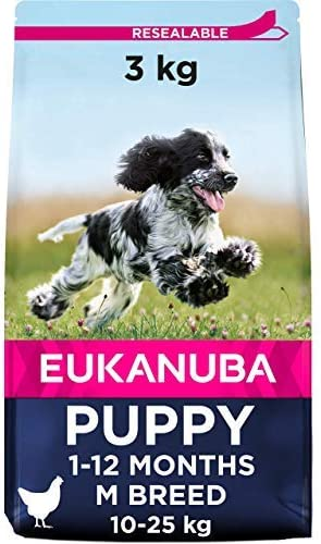 Oferta amazon: Eukanuba Alimento seco para cachorros de razas medianas con pollo 3 kg