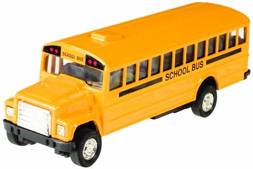 Toysmith Pull Back School Bus 5 Inch