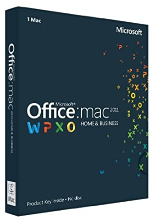 Office Mac Home & Business 2011 Key Card - 1PC / 1User