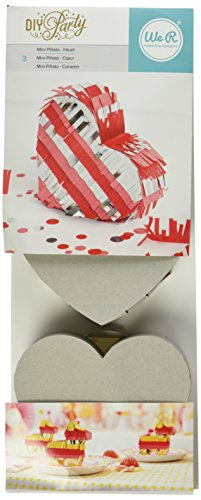 We R Memory Keepers DIY Party Heart Pinata (3 Pack)
