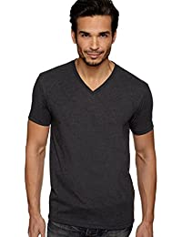 Next Level Men's CVC Combed Baby Rib-Knit V-Neck T-Shirt ( Pack of 3 )