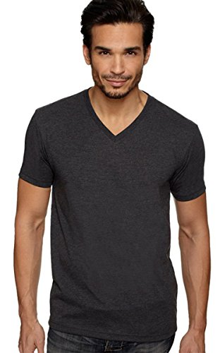 Next Level Apparel 6240 Mens Premium CVC V-Neck Tee - Charcoal44; Large