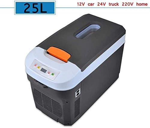 ZWH-ZWH 電気クールボックス12V〜240V / 24Vトラック熱電クールボックス(25L)カークーラー冷蔵庫キャンプ冷蔵庫長距離運転ジャーニー 車載用冷蔵庫