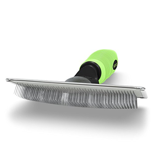 Slicker Dog Brush for Shedding Short Hair & Long Hair - Cat Brush & Dog Grooming Supplies, Deshedding for Single or Double Coated Dogs & Cats - Undercoat Rake for Your Pet