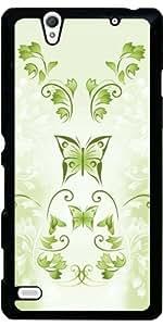 Funda para Sony Xperia C4 - Mariposas Verdes Floral by Nina Baydur