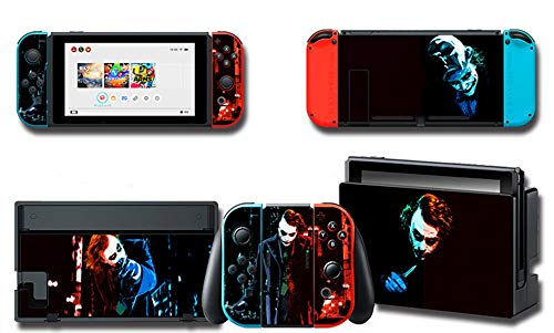 Full Set Protection Faceplate Console Joy-Con Dock Protector Wrap Skin Decal for Nintendo Switch, Games Full Set Protective Faceplate Stickers Console Joy-Con Dock(Art Cartoon Cat Series) (8) from ALLPE