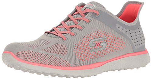 Skechers Gray Sport Supersonic Fashion Sneaker Womens Microburst Coral OxwBAOq