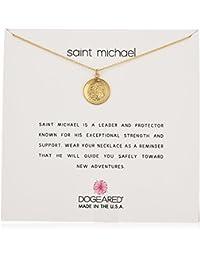 """Dogeared Saint Michael Necklace St Michael Chain Necklace, 16"""""""
