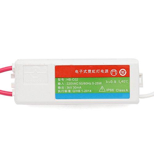 LYEJM HB-C02 Plastic Neon Electronic Transformer 5-25W 3KV 30mA Load Neon Sign Power Supply LYEJM