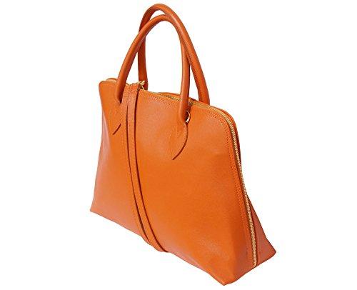 Leather En Florence Business Cuir Orange Pour Femme Cartable Saffiano Market Sac 308 dccgqBp7