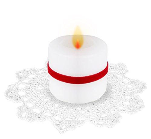 - Exquisite Handmade Crochet Placement Doilies, 8-inch, Round, White Color, Fine 100% Cotton Material. 4-set