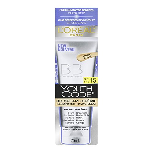 L'Oreal Paris Youth Code BB Cream Illuminator, Light, 2.5 Fluid ()