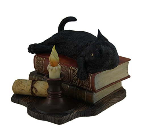 Veronese Design The Witching Hour Black Cat Sculpture