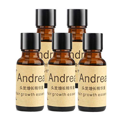 5 x 20ML Andrea Hair Growth Essence Hair Loss Stop Fast Hair Growth Products Regrow Scalp Treatments Ginger Genseng Raise Dense Hair Liquid For Damaged Hair Enhance Your Overall Hair Condition