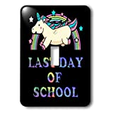 3dRose Sven Herkenrath Unicorn - Last Day Of School Card With A Super Cute Unicorn - Light Switch Covers - single toggle switch (lsp_288316_1)