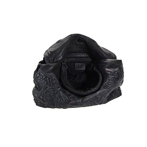 Billy the Kid Marruecos Alia bolso de cuero 46 cm Black