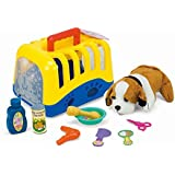Pet Puppy Carrier Soft Plush Dog And Grooming Toys Pet Care Play Set Grooming Feeding Caring Kit Vet Play Set,