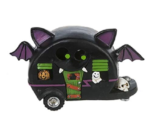G Ganz Halloween Cat & Bat Light Up Camper 5 inches Figurine (Bat) -