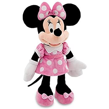 Amazoncom Disney 18 Minnie Mouse in Pink Dress Plush Doll Toys