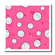 Janna Salak Designs Sports - Pink Volleyball Pattern - Iron on Heat Transfers - 6x6 Iron on Heat Transfer for White Material - ht_195244_2