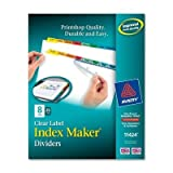 Index Maker Punched Clear Label Tab Divider