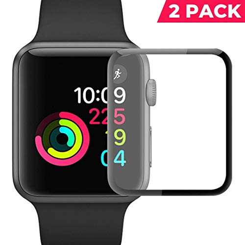 YJ Watch Screen Protector 42mm 2 Pack Compatible Apple iWatch Anti-Scratch Bubble-Free HD-Clear