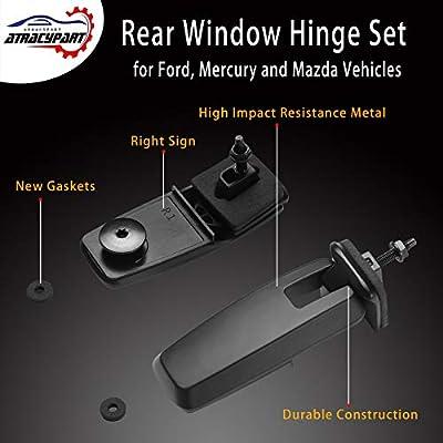 Rear Window Hinge Set Liftgate Glass Hinge Right & Left | for 2008-2012 Ford Escape Mercury Mariner Mazda Tribute | #8L8Z78420A68C, 8L8Z78420A68D, 8L8Z-78420A68-C, 8L8Z-78420A68-D: Automotive