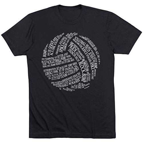 Volleyball Words T-Shirt | Volleyball Tees by ChalkTalk SPORTS