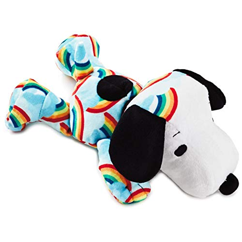 Hallmark Peanuts Snoopy Rainbow Skies Floppy Stuffed Animal, 10.5
