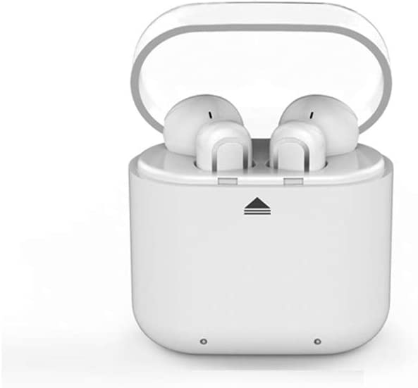 True Wireless Bluetooth Headphones, Waterproof Headset Micro Wireless Bluetooth Headphone with Noise Cancelling (G11, White)