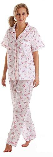 Lady olga Poly Cotton Short Sleeve Pyjamas 55423 Pink 14-16 by Lady olga (Image #1)