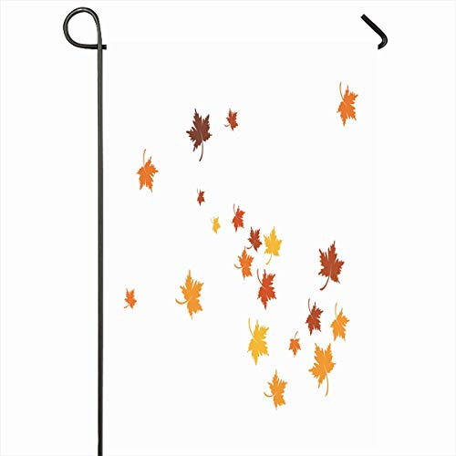 Ahawoso Outdoor Garden Flag 12x18 Inches Foliage Bright Brown Autumnal Autumn Leaf Nature Red Orange Blur Carnival Celebration Greeting Home Decor Seasonal Double Sides House Yard Sign Banner