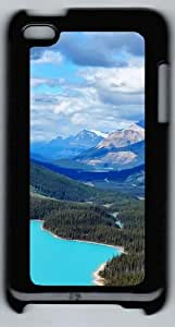 Apple iPod 4 Case and Cover - Canada Blue Lake PC Case Cover for iPod 4/ iPod 4th Generation - Black