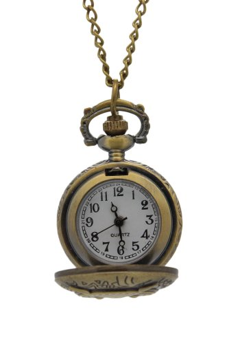Gold Eagle Pocket Watch - Timermall Gold Vintage Pendant Round Dial Pocket Watches