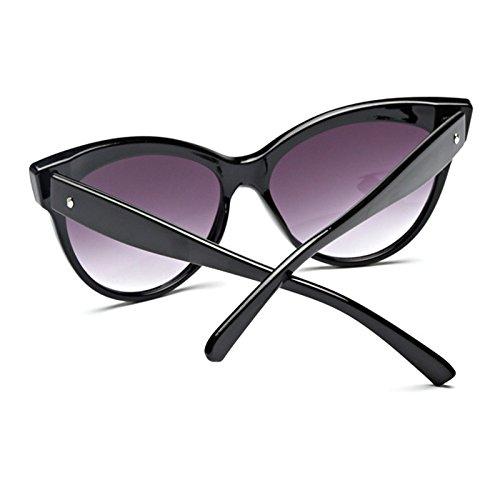 La De Bright GREY Brillante De Gafas black Para Vidrio W Señorita De Grey W Negro Ojos TIANLIANG04 Gato Mujer Sol Color BTYwqY